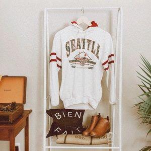 VINTAGE • Seattle WA graphic varsity hoodie p4